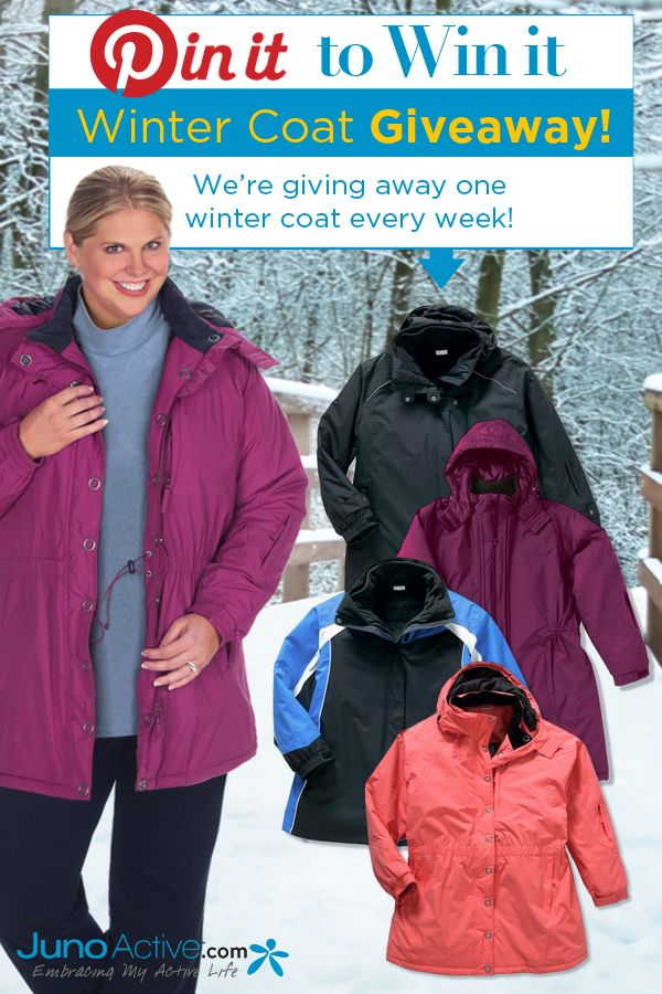 Win a FREE Plus Size Winter Jacket! Size XL to 6X from JunoActive.com