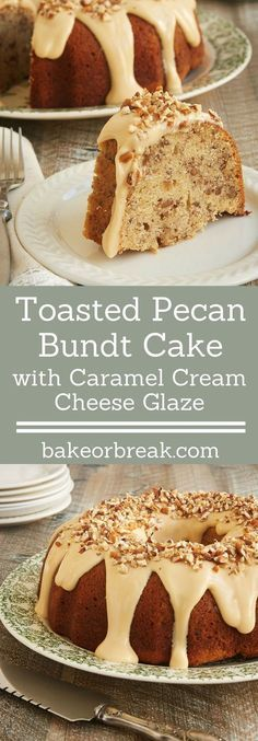 Toasty nuts, lots of brown sugar, and a sweet glaze combine to make this fantastic Toasted Pecan Bundt Cake. A must for pecan lovers! - Bake or Break