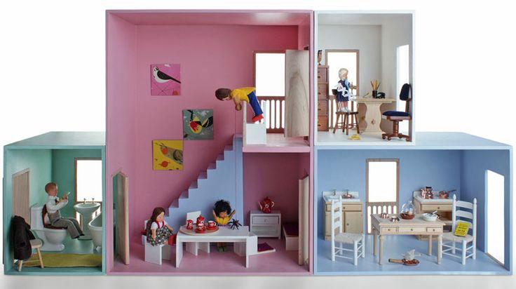 Puppenhaus Holz - HASE WEISS - MÖBEL UND SPIELE FÜR KINDER - Spielzeug, Puppen, Kinderkleidung, Puppenstuben, Kindermöbel