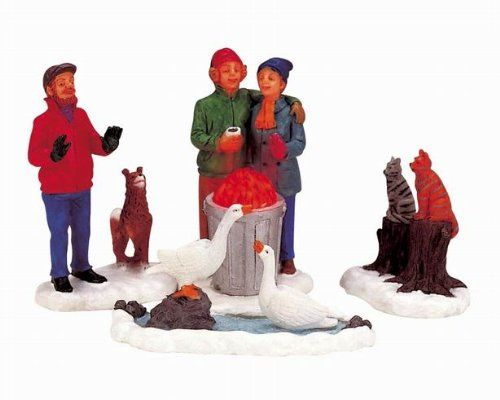 Lemax Christmas Village Collection Lighted All Together Now! 4-Piece Set  #CollectibleFigurines