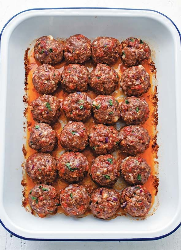 Chorizo Meatballs Recipe | Moderne Cafe (These spectacular chorizo meatballs are flavorful, flawless, and foolproof.)