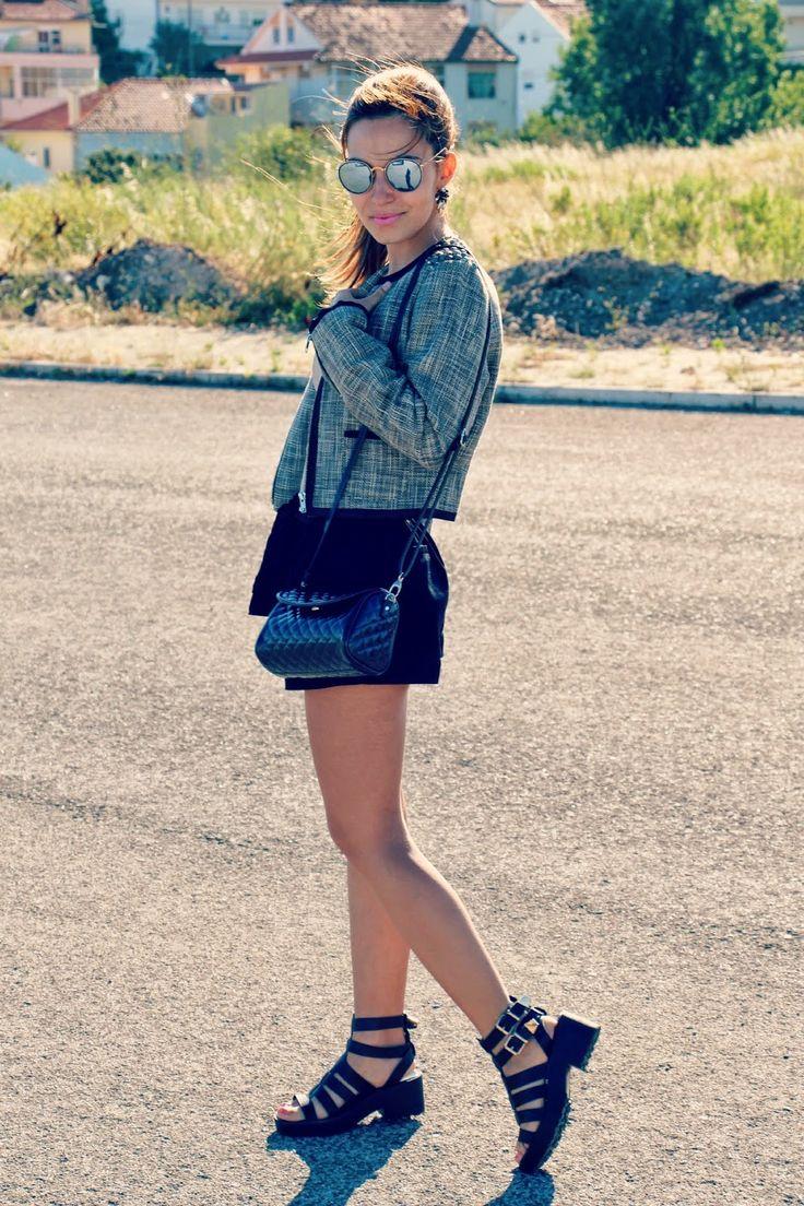 #ootd * http://perolamakeupblog.blogspot.pt/2014/06/outfit-black-grey.html