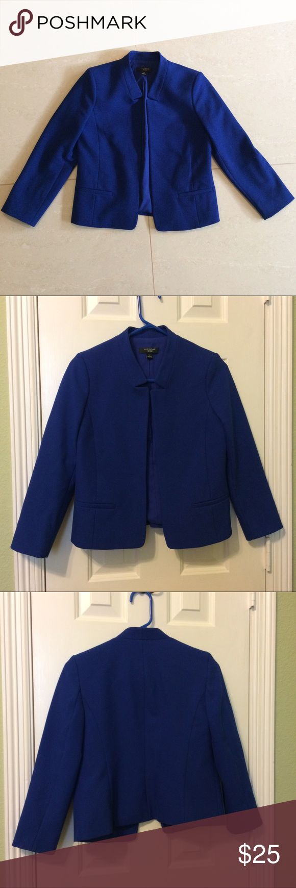 ANN TAYLOR royal blue blazer Petite blazer from Ann Taylor. Great quality, work appropriate, and beautiful blue color. In perfect condition!! Ann Taylor Jackets & Coats Blazers