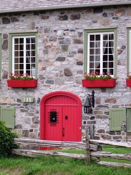 The red door - Ile d Orleans, Quebec