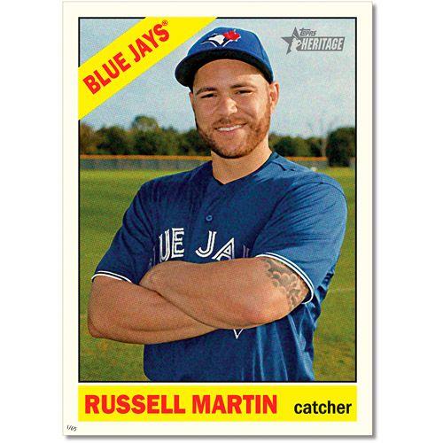Toronto Blue Jays Russell Martin Heritage Baseball Print -