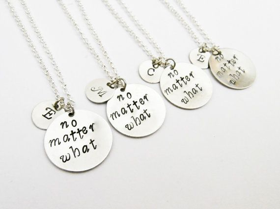 4 best friend necklace no matter WHAT initial by RobertaValle