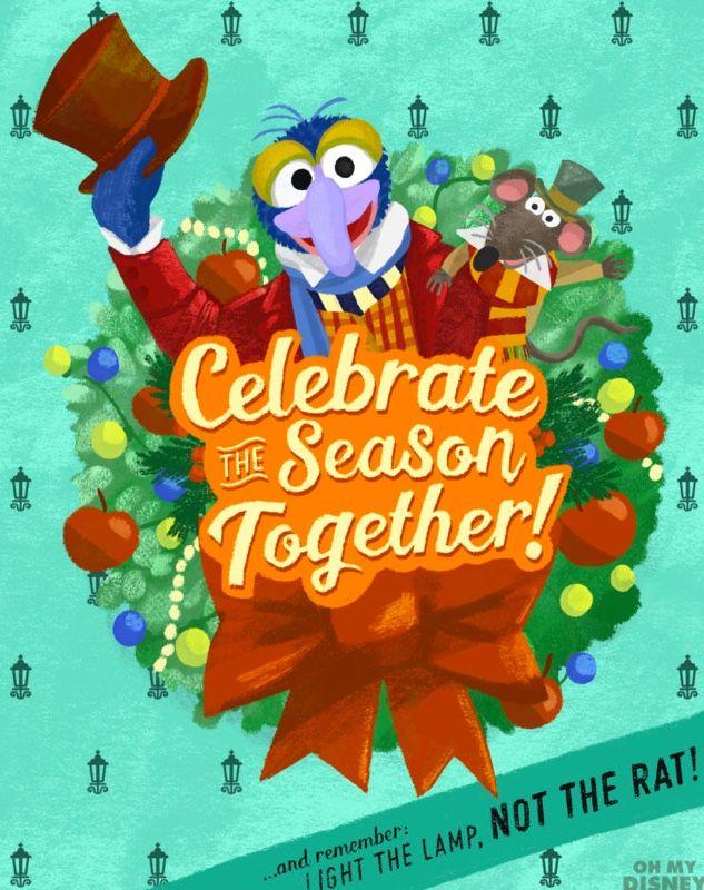 Muppet Christmas Carol Muppet Christmas Carol Printable Holiday Card Christmas Greetings