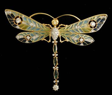 Masriera Dragonfly Pendant/Brooch  Louis Comfort Tiffany, 1913, From Christie's