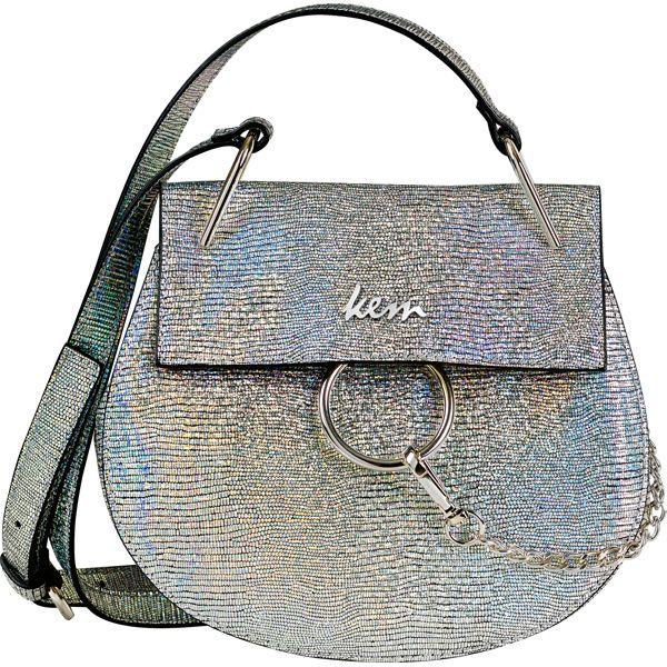 Kem bag metallic silver #papakfroufrou