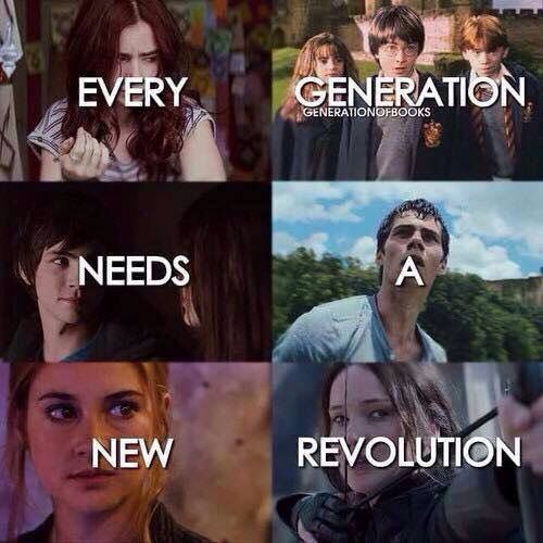 Shadowhunters, Harry Potter , Percy Jackson, Maze Runner, Divergent, The hunger games