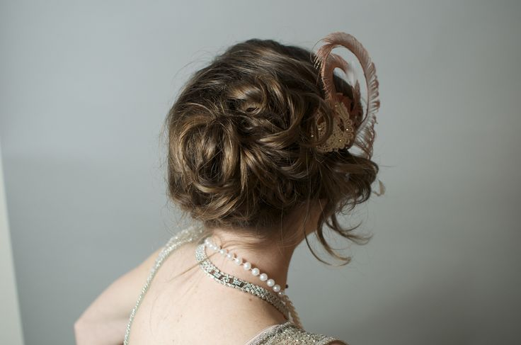 Laura, back of updo.   #hair #updo #prohibition #greatgatsby #weddingstyle #weddinghair