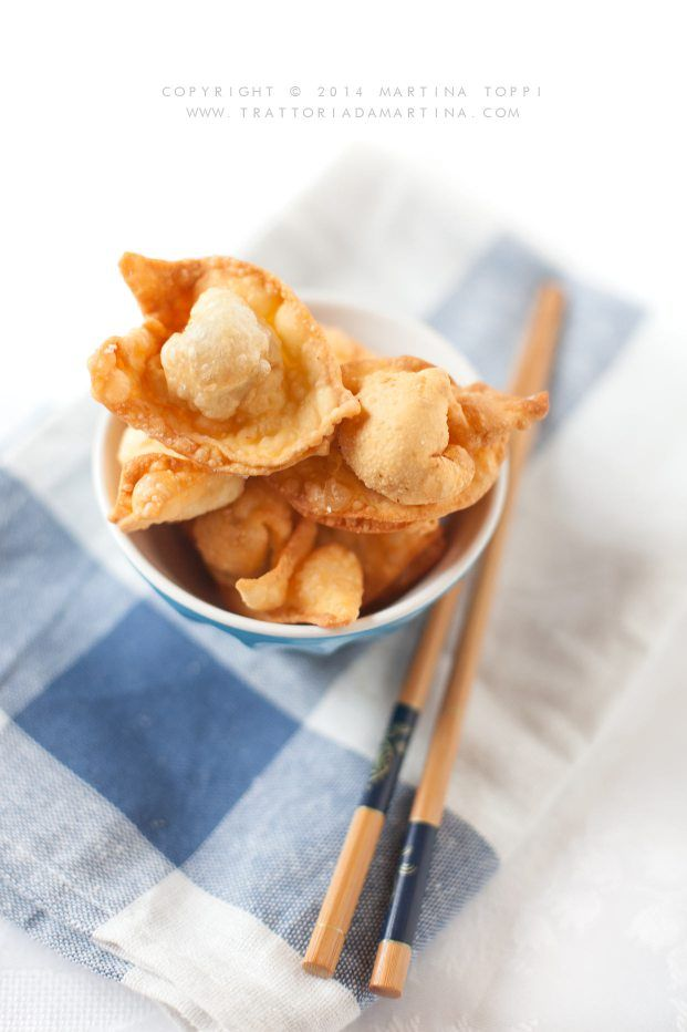 ... chinese fried wontons with meat ...