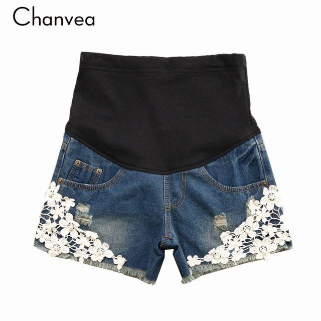 Online Shop Summer Plus Size Maternity Shorts for Pregnant Women Denim Blue Jeans Pants Female Lace Denim Shorts Maternity Clothes|Aliexpress Mobile