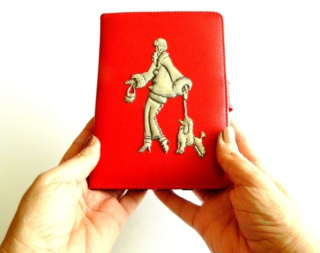 Kindle Paperwhite Case Fire HD Case Art Deco Lady and Dog  £35.00