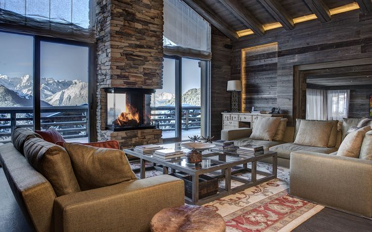 Chalet Aurora - Verbier. Beautiful outlook over the mountains. #luxuryskichalet #mountainviews #openfire #fireflycollection