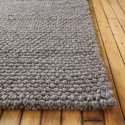 Thatch Rug, super soft, cable-knit wool, like a cozy sweater on your floor. DWR.  Rug for Charlie's room?