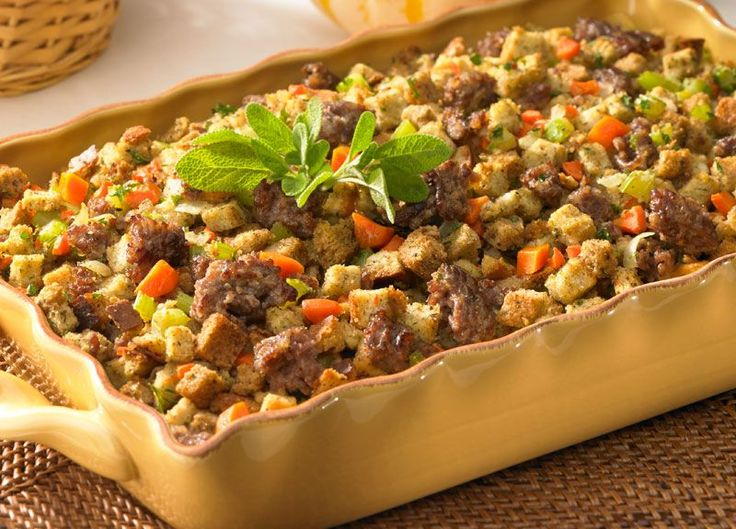 The big, bold flavors of Johnsonville Sausage make every meal great, and this stuffing recipe is delicious, edible proof! This dish uses many favorite stuffing ingredients: carrots, sage, thyme, onions, chicken broth and celery. The game changer is using Johnsonville Original Ground Breakfast Sausage as the main ingredient. The sausage complements the other ingredients so well that this will be your go-to stuffing recipe.