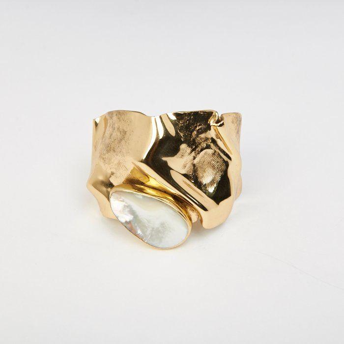 Cornelia Webb - Waved Folded Cuff - Gold PlatedC