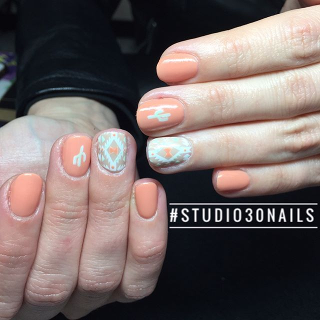 western nails, troy michigan, nail salons, gel manicure, manicures, peach, - 25+ Trending Peach Nail Art Ideas On Pinterest Coral Nails