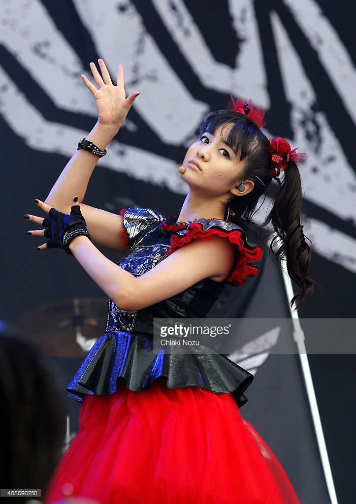 Moametal of Babymetal performs on Day 2 of the Reading Festival at Richfield…