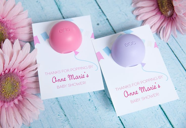 """""""About to Pop"""" Baby Shower Favor Idea - using EOS lip balm! {with Free Printable}"""