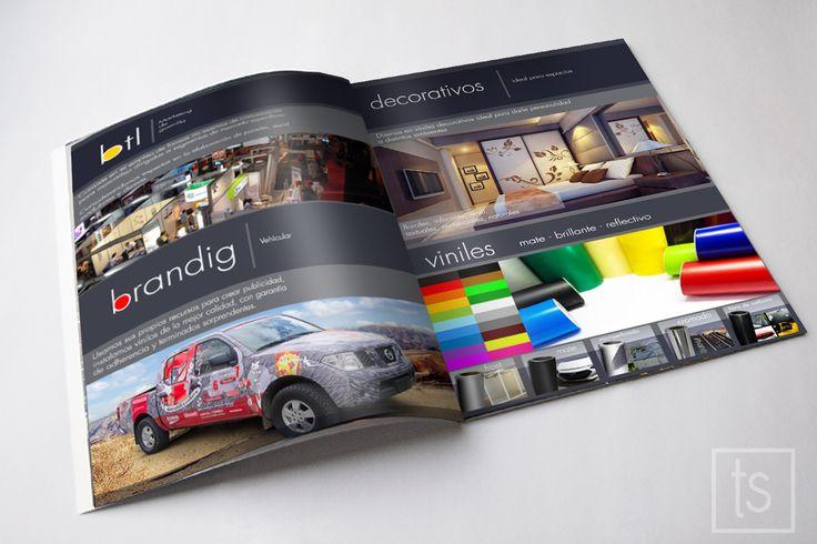 Terminando nuestro nuevo catalogo de servicios, tipos de materiales y aplicaciones en marca