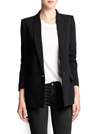MANGO - CLOTHING - Crepé suit blazer