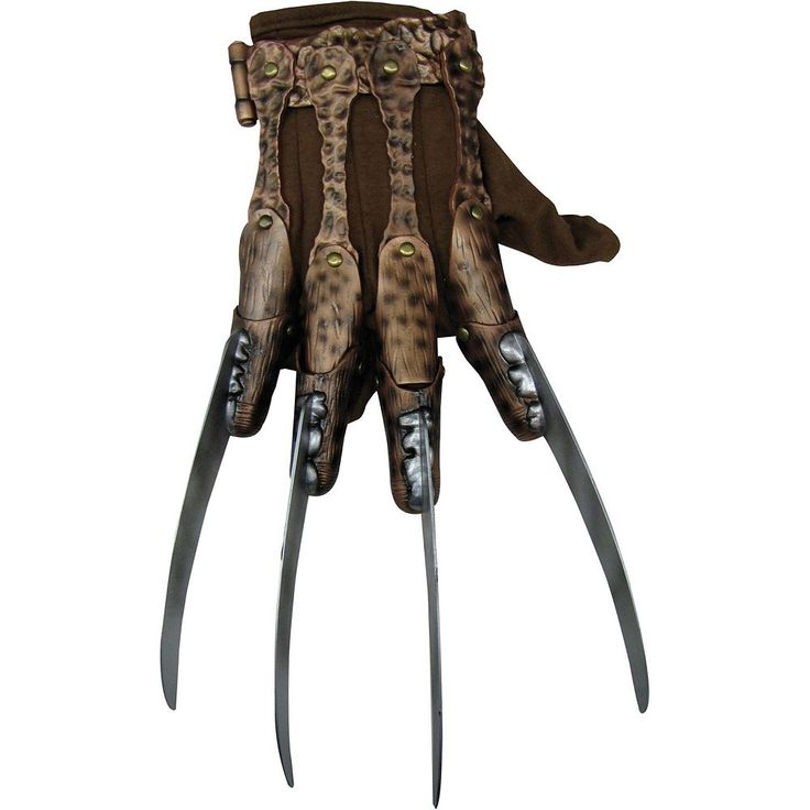 Adult Deluxe Nightmare on Elm Street Freddy Costume Glove, Men's, Brown