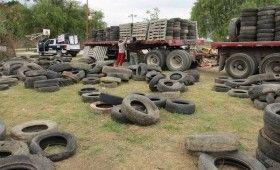 IEEDS y Cementera Cruz Azul trasladan 33 toneladasde llantas usadas al Istmo