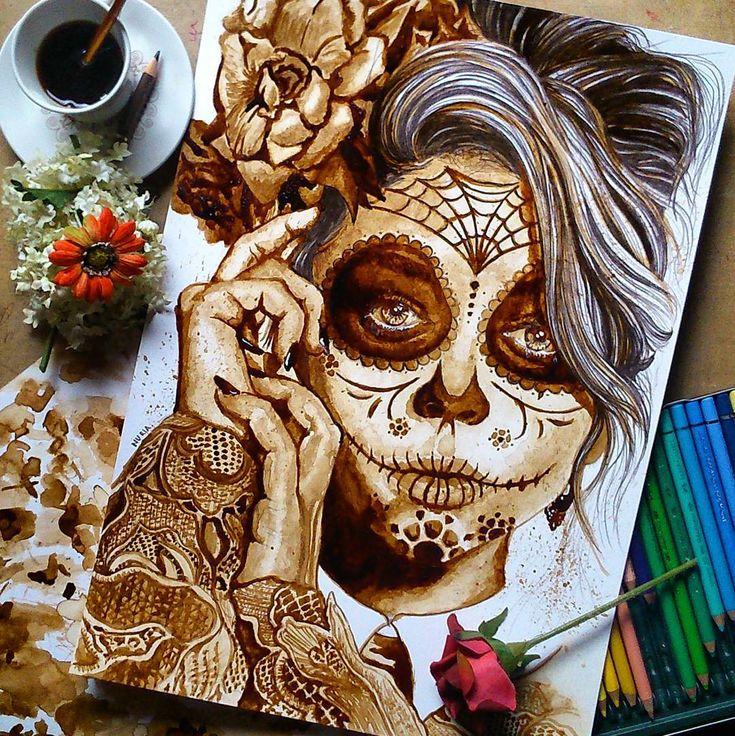Sanatlı Bi Blog Kahvenin Harman Olduğu Muhteşem Portre Çalışmaları: 'Nuria Salcedo' 4