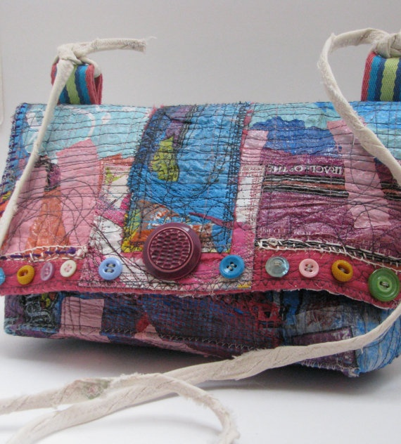 Upcycled Purse Cross-the-Body One of a Kind Bag Handmade - SOLD - tzaChicThing One of a Kind Upcycled Bags and Accessories via Etsy