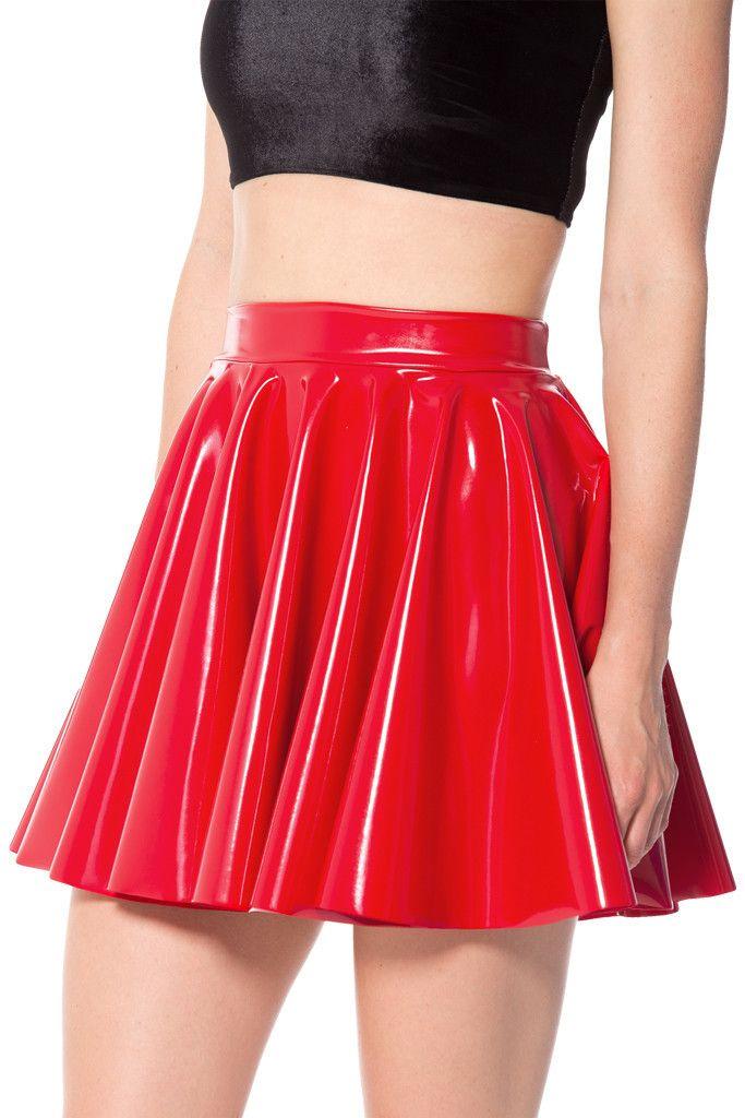 PVC Red Cheerleader Skirt. | Black Milk graveyard. | Pinterest | Cheerleader skirt Black milk ...
