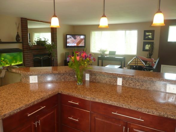 Split Level Kitchen Bananza Kitchen Designs Decorating Ideas Hgtv Rate My Space Update