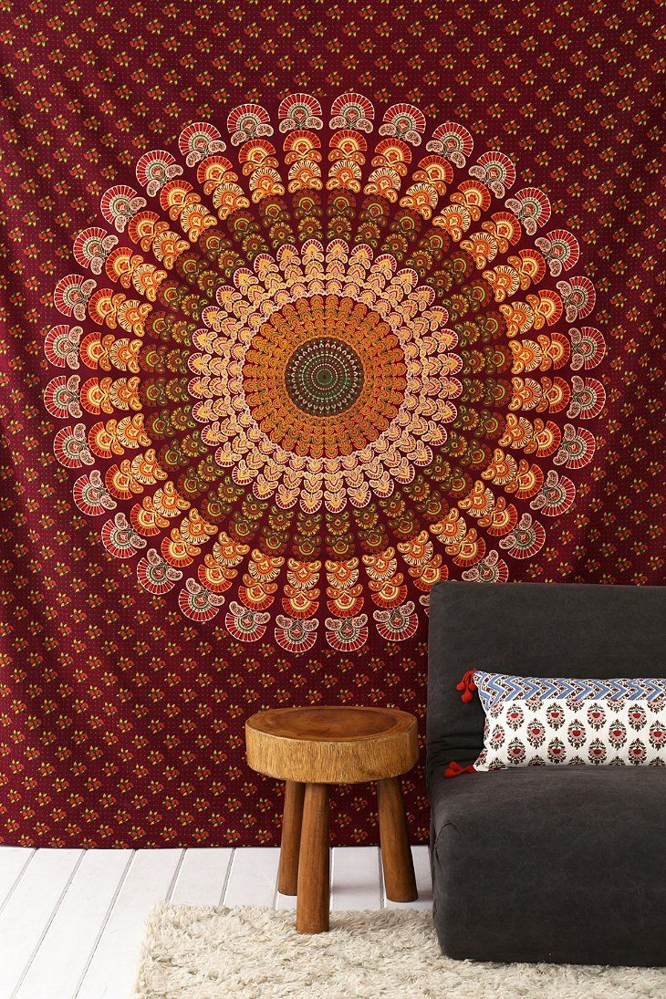 plum star medallion jaipur yellow hippie bow handloom bedspread d wall and tapestry decor small products dorm