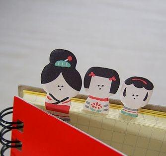 こけし付箋  Kokeshi post-it note