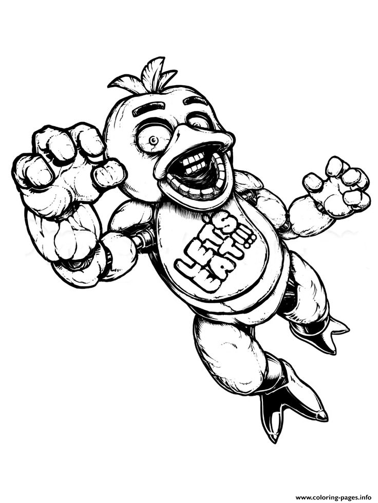 It's just a graphic of Dynamite Five Nights at Freddy's Coloring Pages Printable