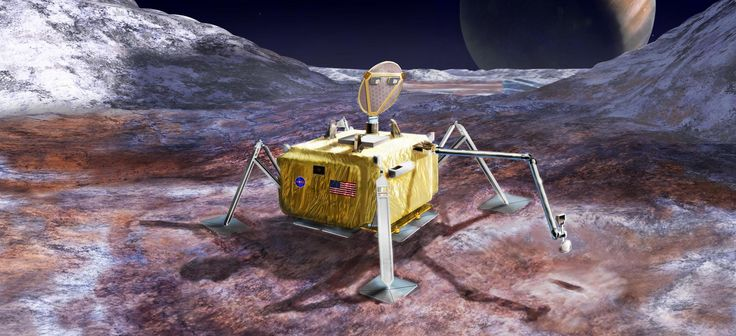 """A potential NASA life-hunting mission to the surface of Jupiter's ocean-harboring moon Europa is starting to take shape. The stationary Europa lander would use three different instrument suites to search for signs of alien life in samples collected from just beneath the moon's icy surface, according to a new report by the 21-member """"Science Definition Team"""" (SDT) for the possible mission."""