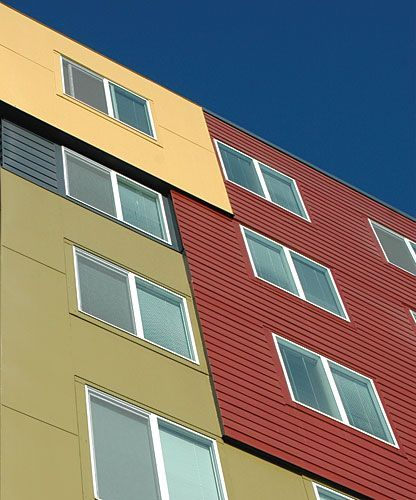 innovative use of fiber cement lap siding on apartments - Google Search
