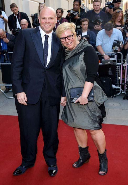 Tom Kerridge with his wife on the red carpet...