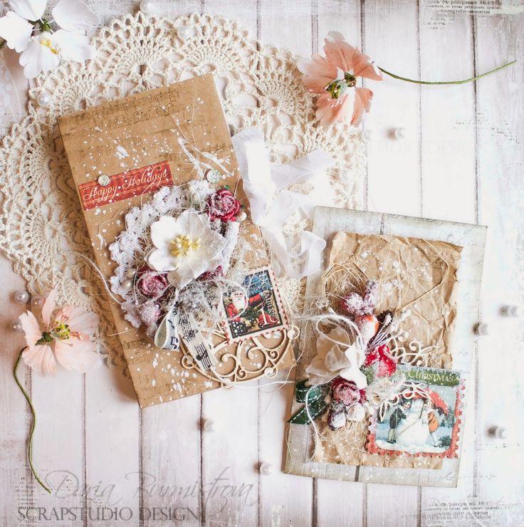Шоколадница с открыткой-крафтовый Новый Год - Скрапбукинг (бумажный) - Babyblog.ru