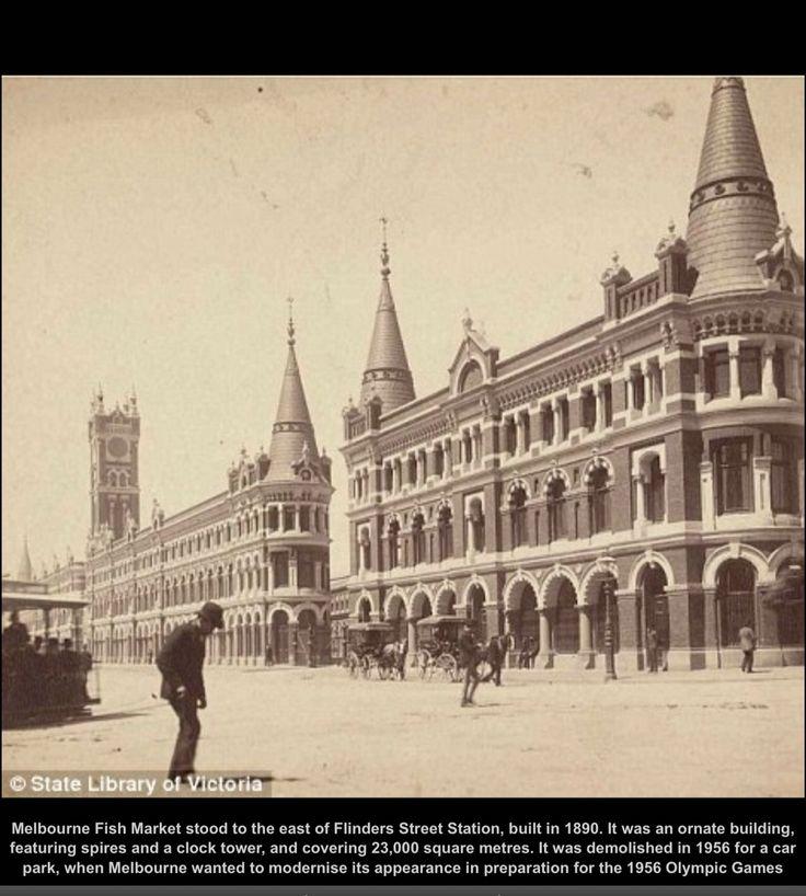 Melbourne Fish Market 1890's Australia