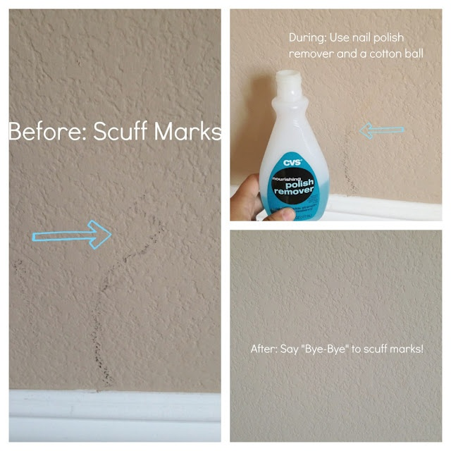 Quickly Easily Get Rid Of Scuff Marks On The Wall W Nail