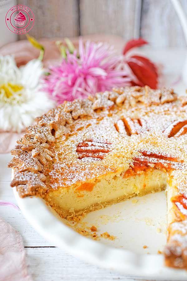 Buttermilk pie with appricots - tarta z morelami