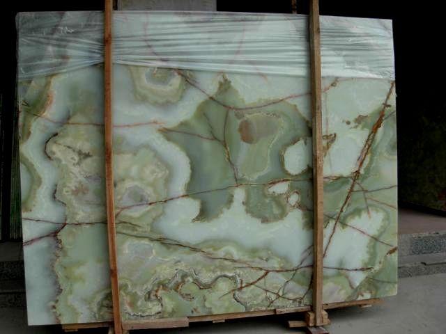 Green Onyx, zielony onyks, Onice Verde, kamień światła zielony onyks, transparentny kamień naturalny zielony onyks afgański
