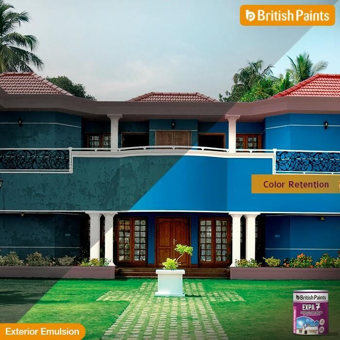 #Colour your walls with #Expa7 to retain your wall colour for a longer time.  #BritishPaints #ExteriorEmulsion #ColourRetention