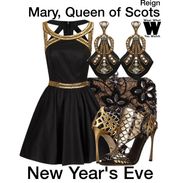 A New Year's Eve inspired look inspired by Adelaide Kane as Mary, Queen of Scots on Reign.: