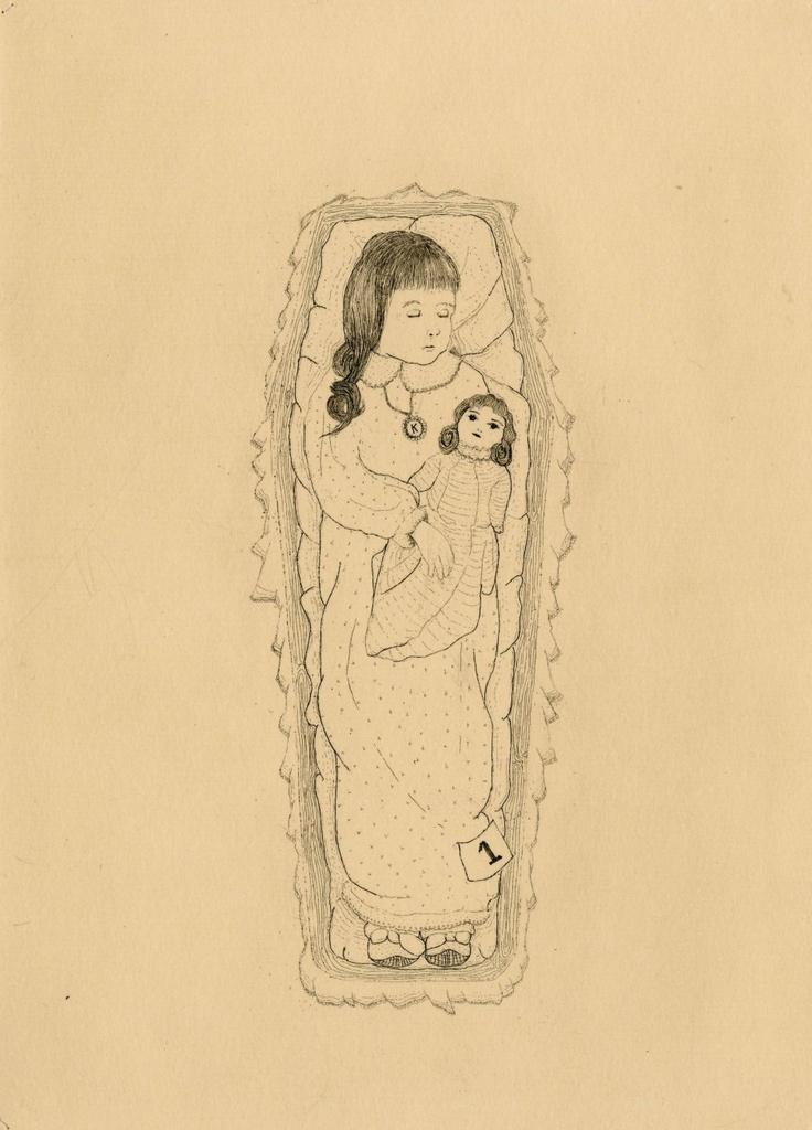 The Hüberman Children and Rabbit (plate three) // copper etching // Eleanor Phillips