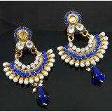 Designer Bollywood Kundan Earring Set Meenakri Goldtone Stone Earring Jewellery