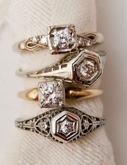 I love antique rings.  :-)Wedding Ring, Stacked Rings, Diamonds Rings, Vintage Rings, Art Deco Diamond, Art Deco Ring, Paris Hotels, Antiques Rings, Engagement Rings