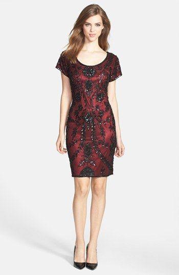 Pisarro Nights Sequin Silk Chiffon Dress available at #Nordstrom